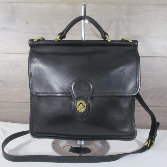 6fd2d6978552 Coach Handbags - Coach 9927 Black Leather Willis Station Bag